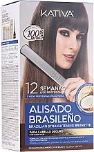 Düfte, Parfümerie und Kosmetik Haarpflegeset - Kativa Alisado Brasileno Straighten Brunette (Shampoo 15ml + Haarmaske 150ml + Shampoo 30ml + Conditioner 30ml + Pinsel 1 St. + Wegwerf Handschuhe)