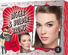 Düfte, Parfümerie und Kosmetik Make-up Set (Augenbrauengel 3g + Augenbrauen-Highlighter 2.8g + Augenbrauengel 3.5ml + Augenbrauen-Schablone) (03 -Medium) - Benefit Bigger & Bolder Brows Kit