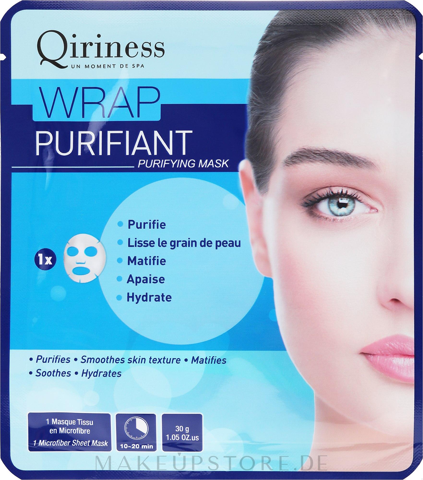 Pflegende Tuchmaske - Qiriness Wrap Purifiant Mask — Bild 30 g