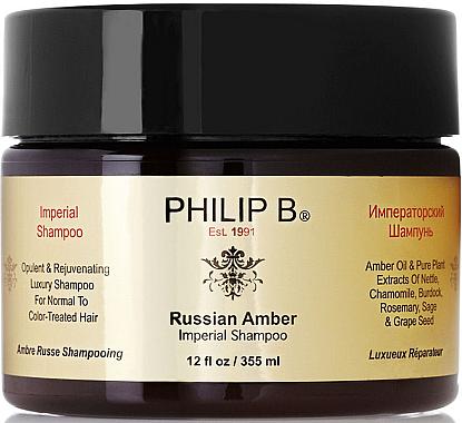 Regenerierendes Shampoo für normales und coloriertes Haar - Philip B Russian Amber Imperial Shampoo — Bild N1