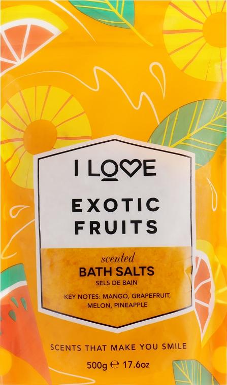 Badesalz mit Duft nach exotischen Früchten - I Love Exotic Fruits Bath Salt — Bild N2