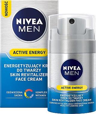 Pflegende und energetisierende Gesichtscreme für Männer - Nivea For Men Active Energy — Bild N1