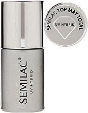 Düfte, Parfümerie und Kosmetik UV Nagelüberlack mit Matt-Effekt - Semilac UV Hybrid Top Mat