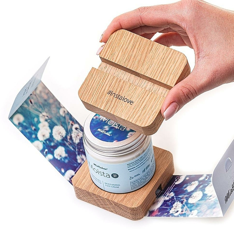 Fußpflegeset - MiaCalnea Moisturizing Foot Cream + 2X OAKIS (Feuchtigkeitsspendende Fußcreme 120ml + Accessoires 2St.) — Bild N4