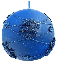 Düfte, Parfümerie und Kosmetik Dekorative Kerze in Kugelform blau 8 cm - Artman Snowflake Application