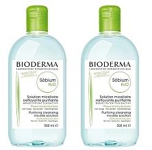 Düfte, Parfümerie und Kosmetik Gesichtspflegeset - Bioderma Sebium H2O Micellaire Solution (Mizellenlösung 2x500ml)