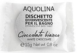 Düfte, Parfümerie und Kosmetik Badebombe Weiße Schokolade - Aquolina Bath Tablet White Chocolate