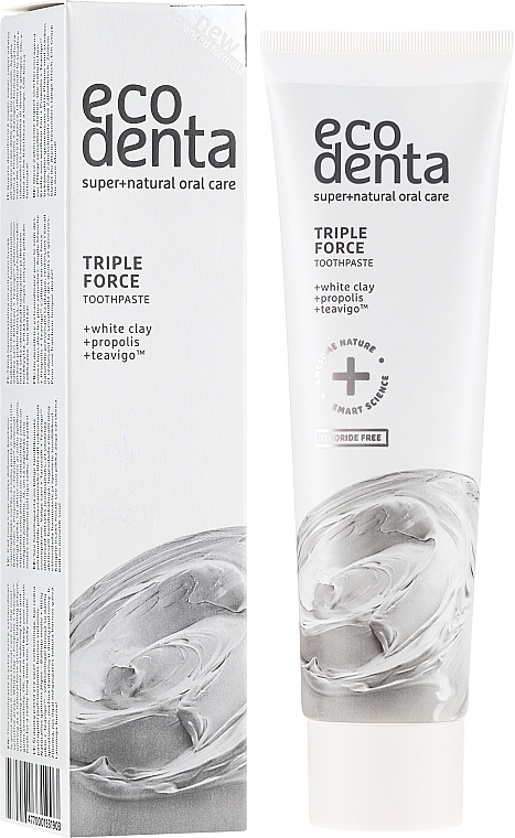 Zahnpasta mit weißem Ton, Propolis und Teavigo - Ecodenta Extra Toothpaste — Bild N1