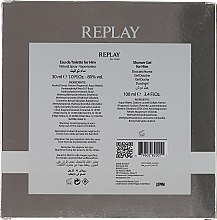 Replay For Him Giftbox - Duftset (Eau de Toilette 30ml + Duschgel 100ml) — Bild N2