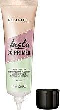 Düfte, Parfümerie und Kosmetik Gesichtsprimer zur Neutralisierung von Hautrötungen - Rimmel Insta CC Primer Colour Correcting