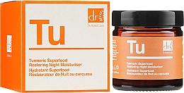 Düfte, Parfümerie und Kosmetik Pflegende und feuchtigkeitsspendende Nachtcreme mit Kurkuma - Dr. Botanicals Turmeric Superfood Restoring Night Moisturiser