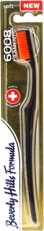 Zahnbürste weich 6008 Filaments schwarz-orange - Beverly Hills Formula 6008 Filament Multi-Colour Toothbrush — Bild N1