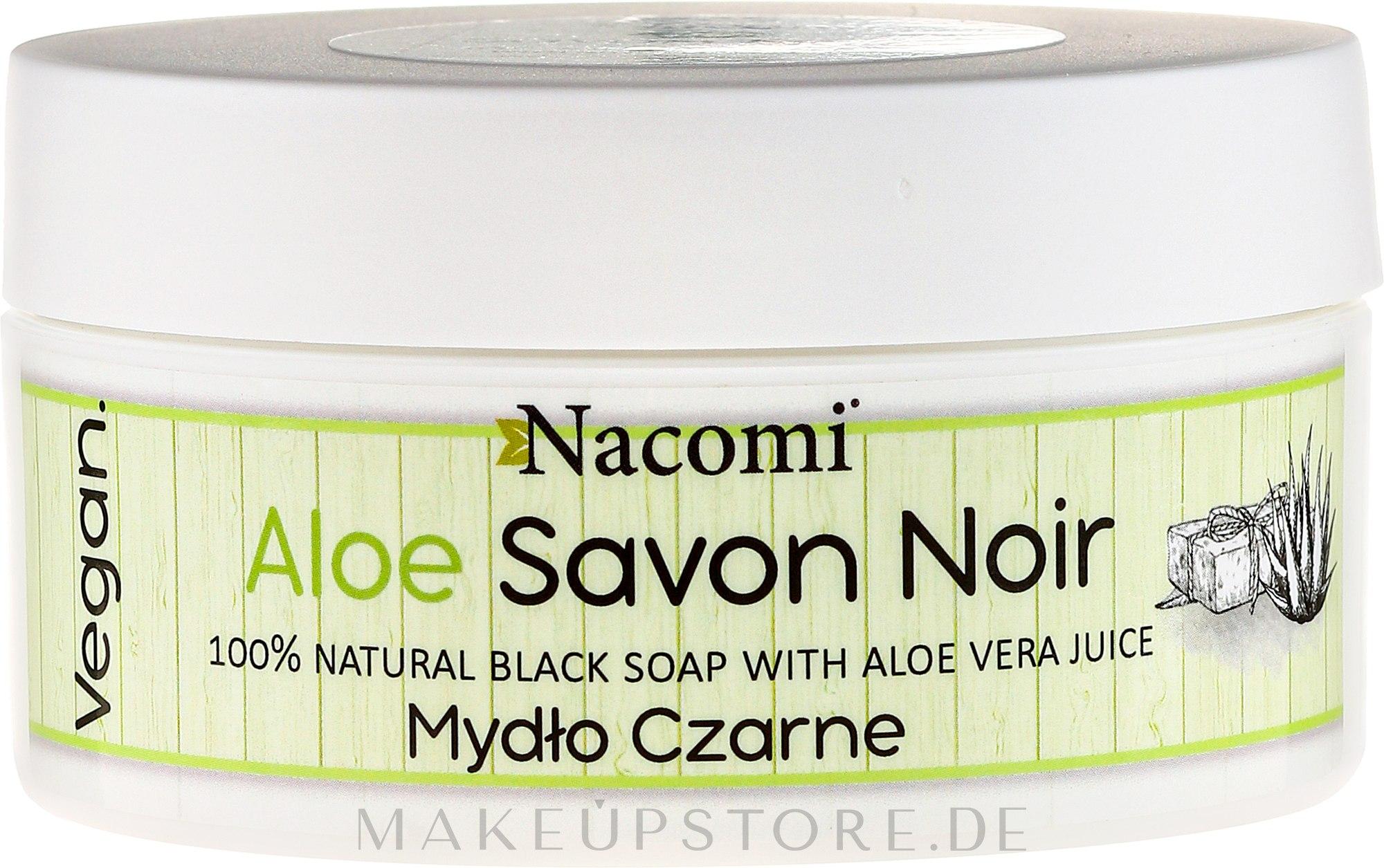 Natürliche schwarze Seife mit Aloe Vera - Nacomi Savon Noir Natural Black Soap with Aloe Vera Juice — Bild 125 g