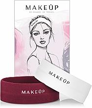 Düfte, Parfümerie und Kosmetik Set Kosmetische Stirnbänder 2 St. - MakeUp Marsala & White