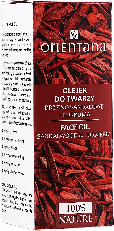 Gesichtsöl mit Kurkuma und Sandelholz - Orientana Face Oil Sandalwood & Turmeric — Bild N2