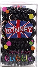 Düfte, Parfümerie und Kosmetik Haargummis schwarz 6 St. №16 - Ronney Professional Funny Ring Bubble 16