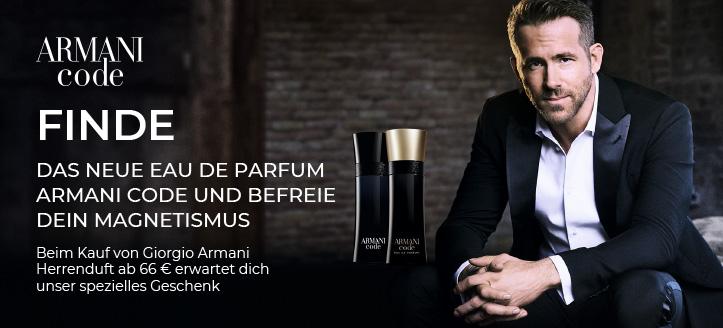 Beim Kauf von Giorgio Armani Herrenduft ab 66 € bekommst du das Mini Eau de Parfum Because It's You geschenkt
