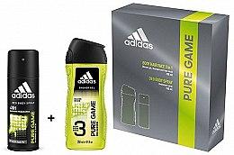 Düfte, Parfümerie und Kosmetik Adidas Pure Game - Duftset (Deospray 150ml + Duschgel 250ml)