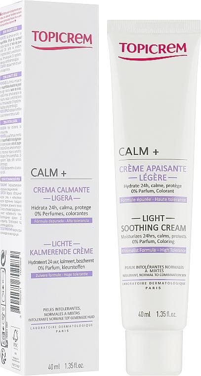 Beruhigende und feuchtigkeitsspendende Gesichtscreme für normale bis Mischhaut - Topicrem Calm + Light Soothing Moisturizing Cream — Bild N1
