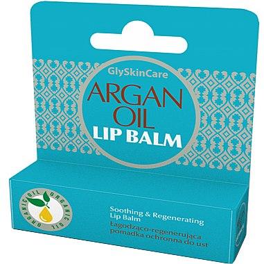 Beruhigender und regenerierender Lippenbalsam mit Arganöl - GlySkinCare Argan Oil Lip Balm — Bild N1
