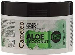 Düfte, Parfümerie und Kosmetik Feuchtigkeitsmaske für trockenes und sprödes Haar - Delia Cosmetics Cameleo Aloe & Coconut Mask