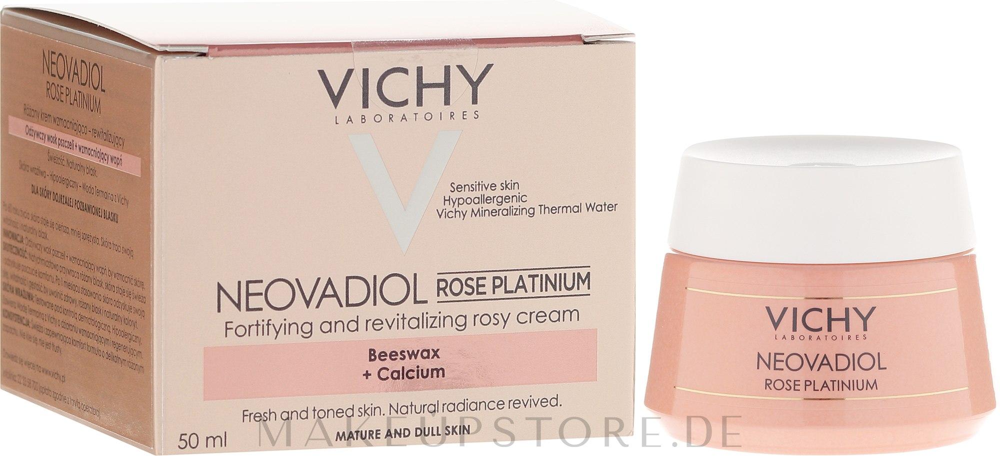Intensive feuchtigkeitsspendende Gesichtscreme - Vichy Neovadiol Rose Platinum Cream — Bild 50 ml