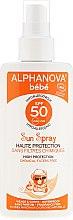 Düfte, Parfümerie und Kosmetik Sonnenschutzspray für Babys mit Aloe Vera SPF 50 - Alphanova Baby Sun Protection Spray SPF 50