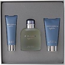 Düfte, Parfümerie und Kosmetik Dolce & Gabbana Light Blue Pour Homme - Duftset (Eau de Toilette 125ml + Duschgel 50ml +After Shave Balsam 75ml)