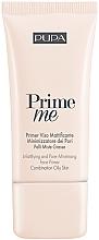 Düfte, Parfümerie und Kosmetik Mattierender und porenminimierender Gesichtsprimer für fettige und Mischhaut - Pupa Mattifying & Pore Minimising Face Primer