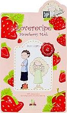 Düfte, Parfümerie und Kosmetik Belebende und aufhellende Tuchmaske mit Erdbeerextrakt - Sally's Box Loverecipe Strawberry Mask