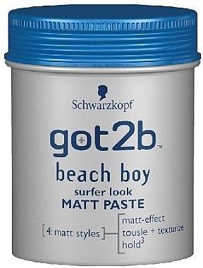 Modellierende Haarpaste für Männer mit Matt-Effekt Mittlerer Halt - Schwarzkopf Got2b Beach Boy Past — Bild N1
