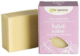 Düfte, Parfümerie und Kosmetik Pflegende Bio Seife mit Linde und Malve - La Saponaria Linden and Mallow Soap