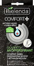 Düfte, Parfümerie und Kosmetik Fußbehandlung gegen Schwitzen mit Aktivkohle und Foliensocken - Bielenda Comfort+ Antiperspirant Foot Mask with Socks
