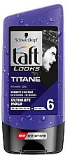 "Haargel ""Titan"" ultimativ straker Halt für Männer - Schwarzkopf Taft Looks Titan Look Power Gel No Stickness-No Residues — Bild N2"