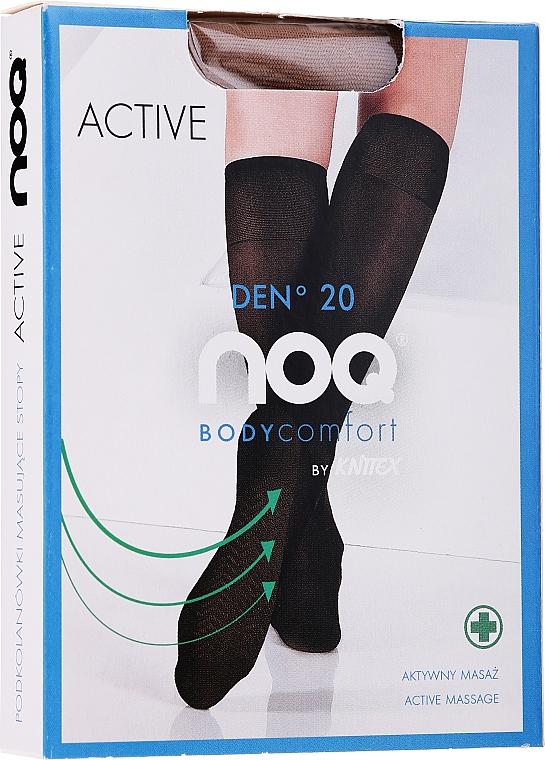 Damenkniestrümpfe mit Fußmassageeffekt Active 20 Den visione - Knittex — Bild N1
