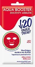 Düfte, Parfümerie und Kosmetik Feuchtigkeitsspendende und beruhigende Anti-Akne Tuchmaske gegen Reizungen - Under Twenty Anti Acne Aqua Booster Juicy Watermelon Face Mask