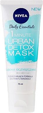 Porenverfeinernde Detox Gesichtsmaske mit Magnolienextrakt - Nivea Daily Essentials 1 Minute Urban Detox Mask — Bild N1