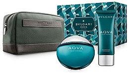 Düfte, Parfümerie und Kosmetik Bvlgari Aqva Pour Homme - Duftset (Eau de Toilette/100ml + After Shave Balsam/100ml + Kosmetiktasche)