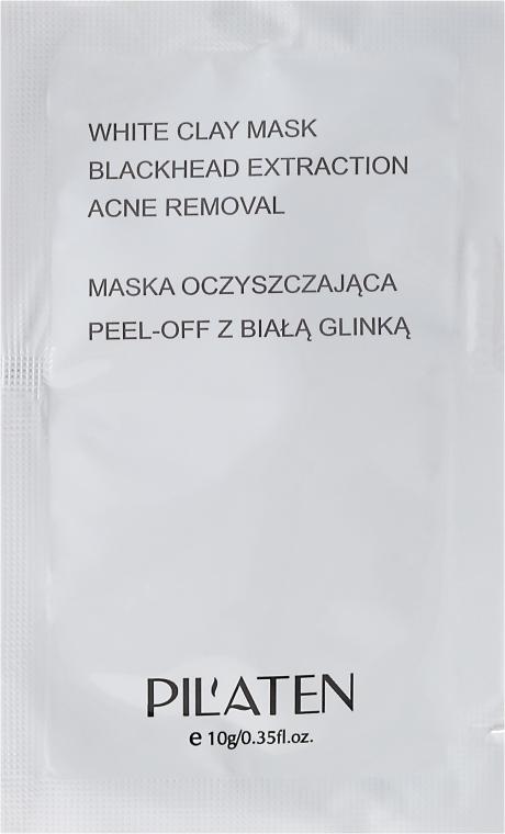 Peel-Off-Maske gegen Akne mit weißem Ton - Pilaten White Clay Mask Blackhead Extraction Acne Removal (Probe) — Bild N1