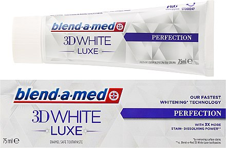 Zahnpasta 3D White Luxe Perfection - Blend-a-med 3D White Luxe Perfection Toothpaste — Bild N1