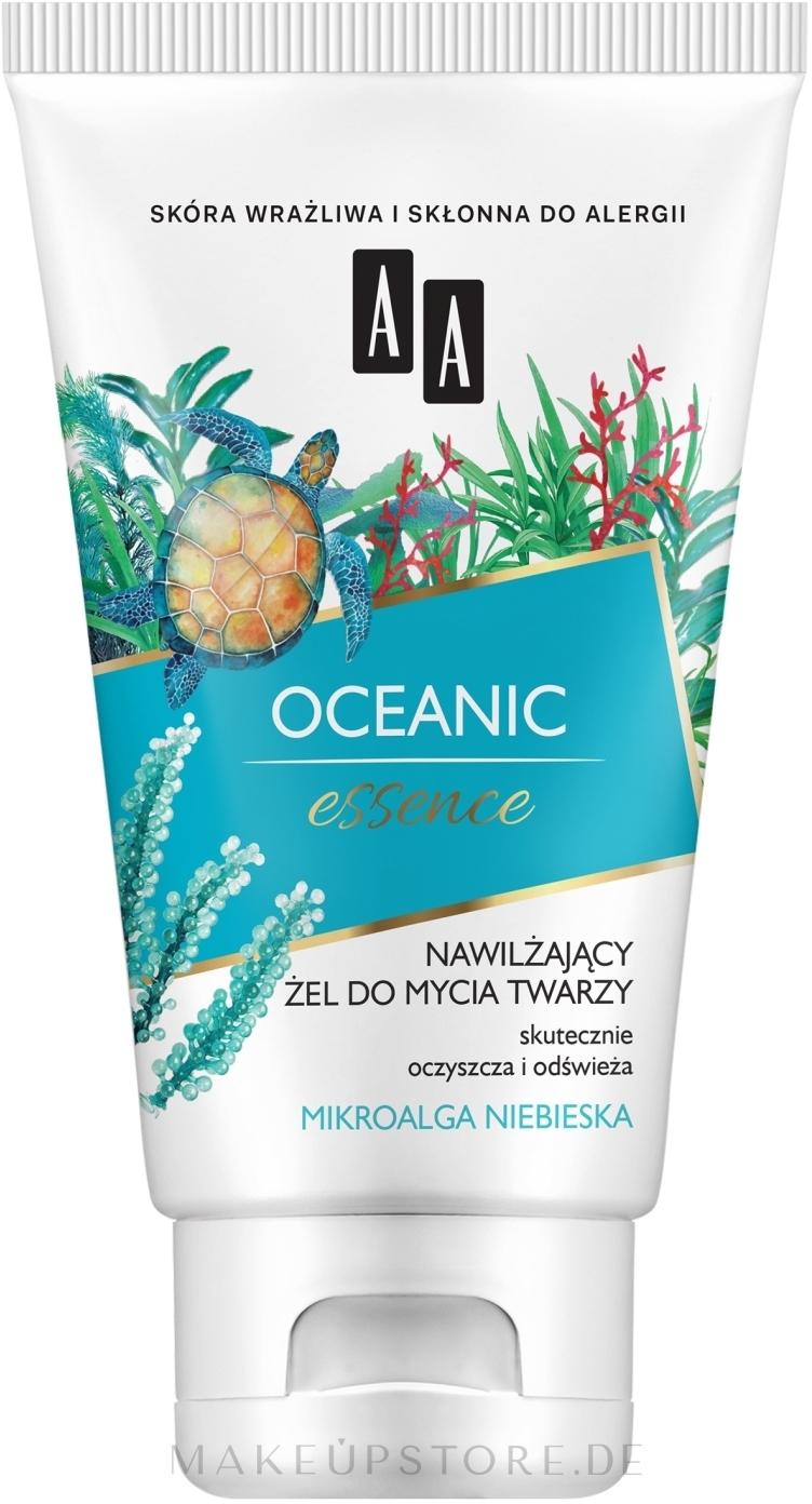 Feuchtigkeitsspendendes Gesichtsreinigungsgel mit blauen Mikroalgen - AA Oceanic Essence — Bild 150 ml