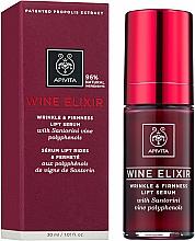 Düfte, Parfümerie und Kosmetik Straffendes Anti-Falten Gesichtsserum mit Lifting-Effekt - Apivita Wine Elixir Wrinkle And Firmness Lift Serum