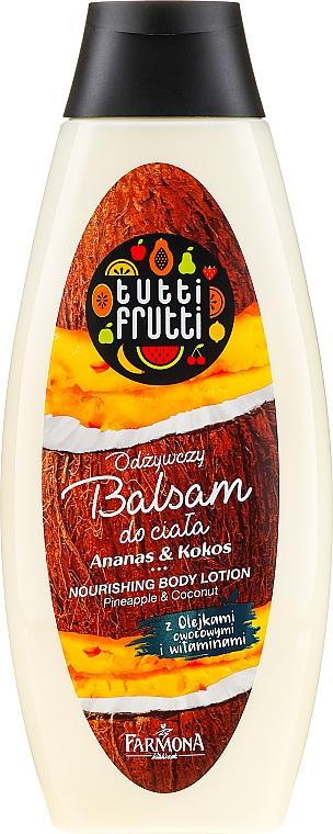 Nährende Körperlotion mit Ananas- und Kokosduft - Farmona Tutti Frutti Nourishing Body Lotion