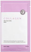 Düfte, Parfümerie und Kosmetik Tuchmaske mit Kollagen und Hyaluronsäure - Dewytree Collagen Melting Chou Mask
