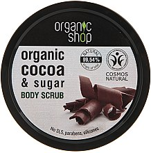 Düfte, Parfümerie und Kosmetik Körperpeeling mit Bio Kakaobutter und braunem Zucker - Organic Shop Body Scrub Organic Cocoa & Sugar