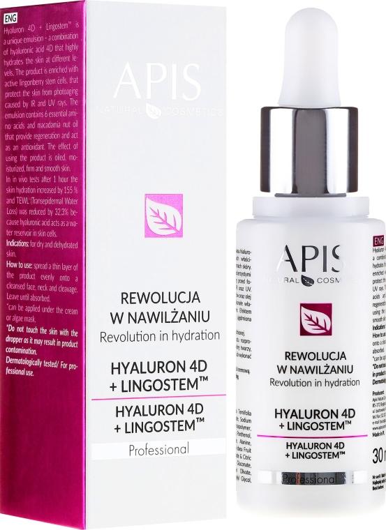 Feuchtigkeitsspendende Gesichtsemulsion - APIS Professional 4D Hyaluron + Lingostem