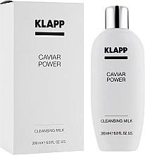 Düfte, Parfümerie und Kosmetik Gesichtsreinigungsmilch mit Kaviarextrakt - Klapp Caviar Power Cleanser Milk