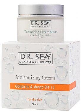 Feuchtigkeitsspendende Gesichtscreme für trockene Haut SPF 15 - Dr. Sea Moisturizing Cream SPF 15 — Bild N1