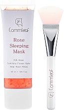 Gesichtspflegeset - Commleaf Rose Sleeping Mask (Gesichtsmaske/50ml + Pinsel) — Bild N2