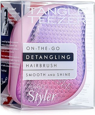 Kompakter Haarkamm pink - Tangle Teezer Compact Styler Sunset Pink — Bild N1